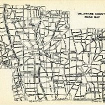 Image of 1936 road map of Delaware County                                                                                                                                                                                                - 1937