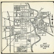Image of 1936 road map of Delaware City                                                                                                                                                                                                - 1937