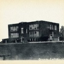 Image of Orange Township School about 1920 - Orange Township - Delaware
