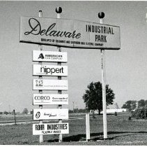 Image of Delaware Industrial Park Sign - 1976