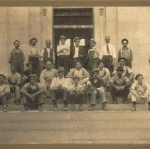 Image of People in front of the new Delaware Post Office on South Sandusky Street - August 19, 1911