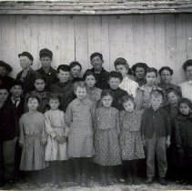 Image of School Children along a wall