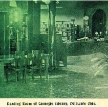 Image of Delaware Carnegie Library Reading Room - Delaware -
