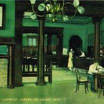Image of Delaware Carnegie Library interior - Delaware -