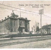 Image of County Jail, Courthouse, and Carnegie Library -