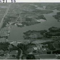 Image of Delaware Lake and USDA research facility - 18 Jul 1971