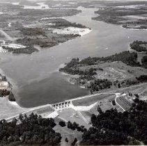Image of Delaware Lake Reservoir and Dam - 21 Jul 1974