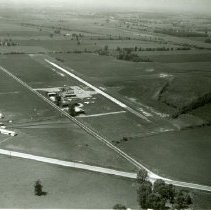 Image of Delaware Airport aerial view - 12 Aug 1965