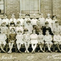 Image of 1932 Class photo.  First grade, North School, Delaware,.Ohio                                                                                                                                                                                                                          - 1932