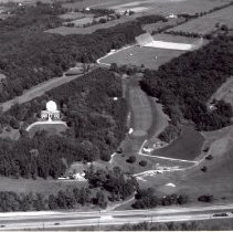 Image of Perkins Observatory, the Radio telescope, and Delaware Golf Course