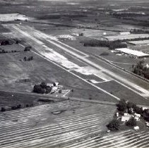Image of Delaware Airport midst the construction on the new landing strip - 19 May 1998
