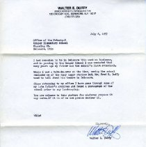 Image of Letter re Conger School