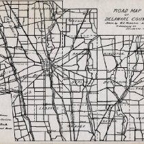 Image of 1918 Road Map of Delaware County