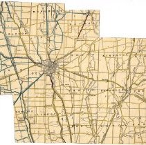 Image of Ohio Department of Highways map of Delaware County