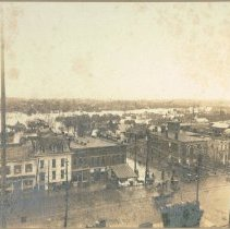 Image of Bird's Eye View from Delaware County court house looking East       - Mar 1913