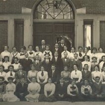Image of 1910 class at Delaware High School - 1910