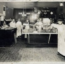 Image of Interior of Strohm's Meat Market and its employees