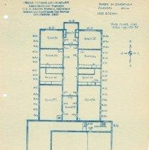 Image of Delaware High School  in 1910 --Drawing of third floor