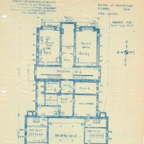 Image of Delaware High School  in 1910 --Drawing of basement