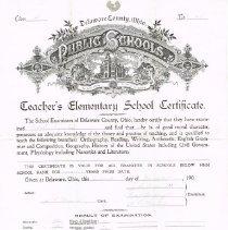 Image of Elementary School Certificate -