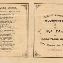 Image of Delaware High School's 1st Commencement