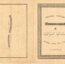 Image of Program for 2nd Commencement of Delaware High School
