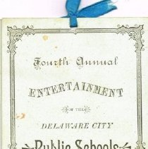 Image of Program for 4th annual Entertainment of the Delaware City Schools