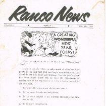 Image of Ranco News V2 N1 January 1958