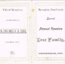 Image of Reunion Souvenir: Lear Family  full view