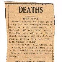 Image of Obituary John Stack
