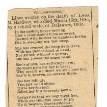 Image of Newsprint, poem on occasion of friends death