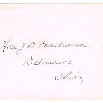 Image of Envelope to Hon. J. VanDeman