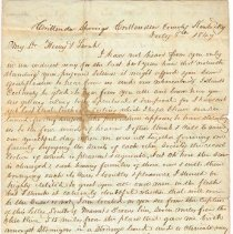 Image of Van Deman July 8 1849 letter to Henry & Sarah, 1 of 4