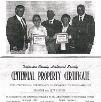 Image of Centennial Property Certificate
