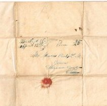 Image of Letter April 10 1841 postmark and address