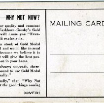 Image of C. W. Smith Mailing Card, Back