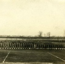 "Image of ""SATC"" Student Army Training Corps Men on OWU football field -"