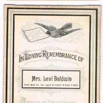 Image of In Loving Remembrance of Mrs. Levi Baldwin