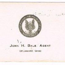Image of John H Bale, Agent
