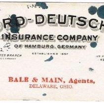 Image of Nord-Deutsche Insurance Company with ink drops
