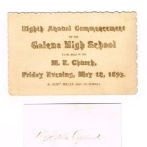 Image of 8th Annual Commencement envelope and card