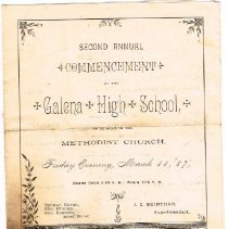 Image of Second annual commencement Galena High School
