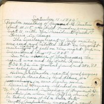 Image of Sample page of minutes Sept 11, 1945