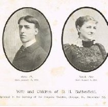 Image of Wife and Children of D. H. Battenfield perished in Iroquois Theatre