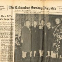 Image of Columbus Sunday Dispatch Jan 11, 1948 front page