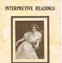Image of Promotional for Ellen James, B. L., Interpretive Readings
