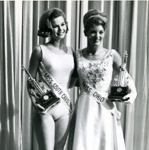 Image of 1966 Miss America Contestants, Sharon Phillian, Miss Ohio, and Barbara Harris, Miss South Carolina -