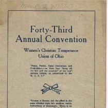 Image of WCTU October 1916 43rd annual convention program