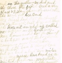Image of Mrs White's handwritten notes from WCTU convention p 2