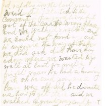 Image of Mrs White's handwritten notes from WCTU convention p 3